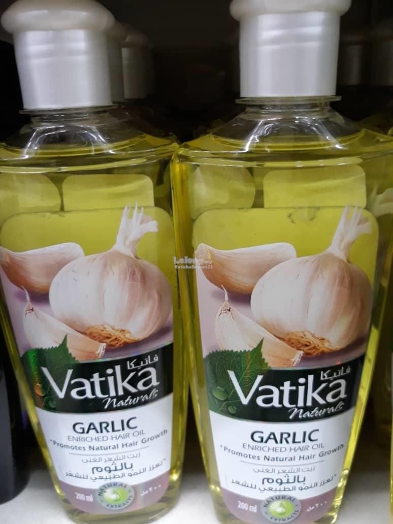 Vatika Naturals Garlic Hair Oil Promotes Hair Growth 200ml Readystock