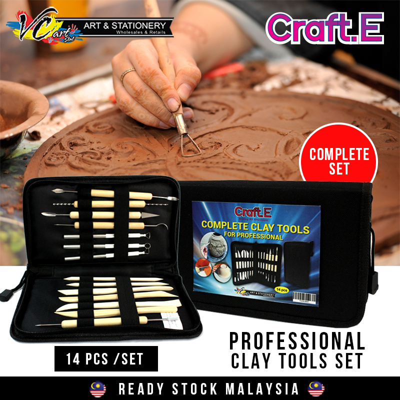 [VC-ART MY]Craft E Complete Clay Tools For Professional 14 Pieces/Set