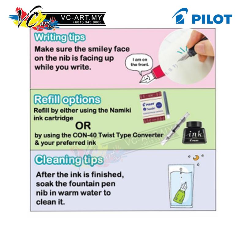 [VC-ART MY] Pilot Kakuno Fountain Pen Medium/Fine/ExtraFine