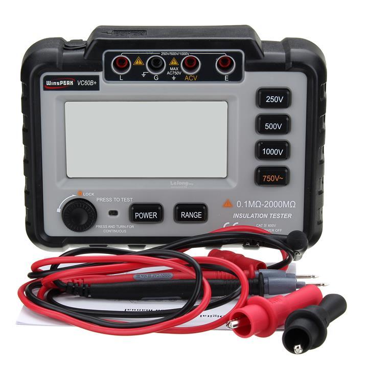 VC60B+ Digital Insulation Resistance Tester Megger MegOhm Meter 250/50