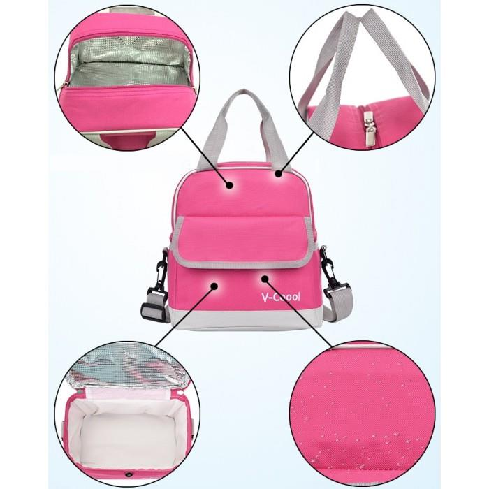 Vcoool:Double Layer Cooler Bag(Pink)