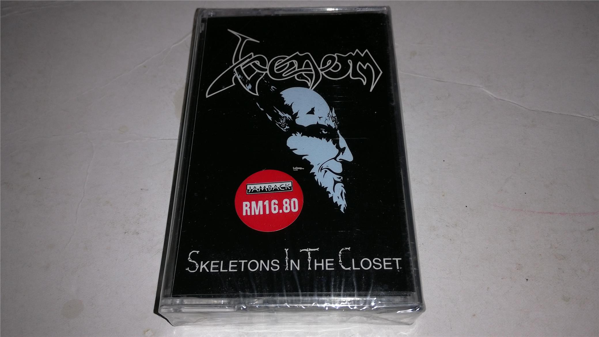 Venom Skeleton In The Closet Cassette Kaset