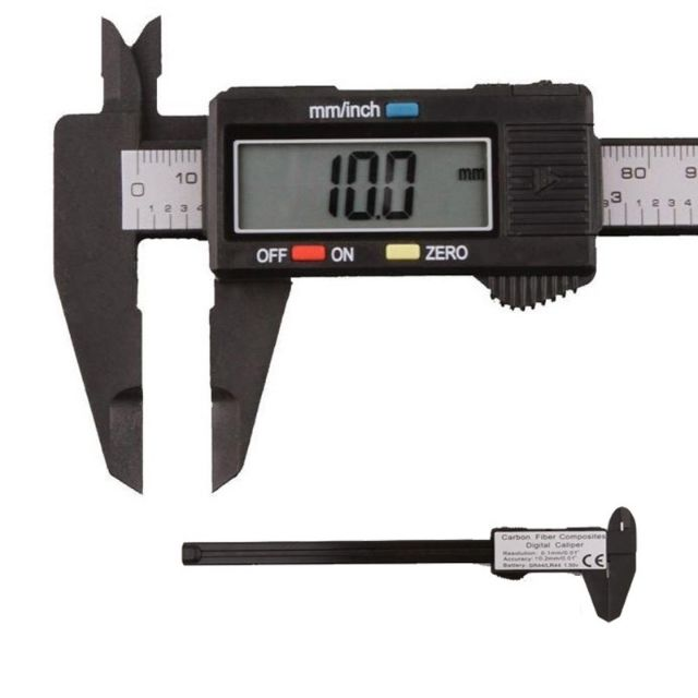 Vernier Caliper with LCD Stylish Digital Electronic Carbon Fiber Measurement T