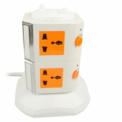 VERTICAL 8-PLUGS EXTENSION SOCKET #3 MONTH WARRANTY#