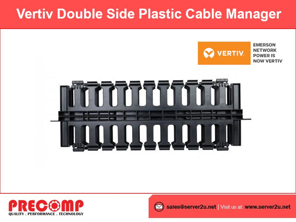 Vertiv Double Side Plastic Cable Manager (SFPCABLEDUCT2UDS)