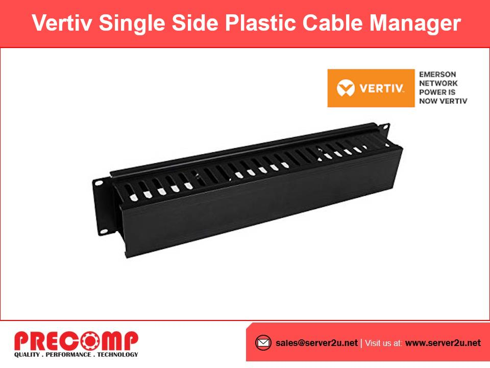 Vertiv Single Side Plastic Cable Manager (SFPCABLEDUCT1U)
