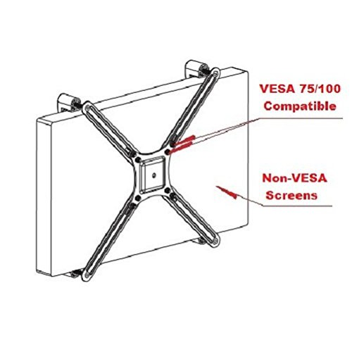 "VESA Mount Bracket Adapter Kit For Non-VESA LCD LED TV Monitors 14 "" To 2"