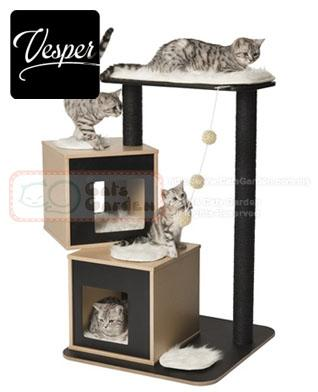 Vesper Cat Tree V Double Black End 2 2 2019 3 15 Pm
