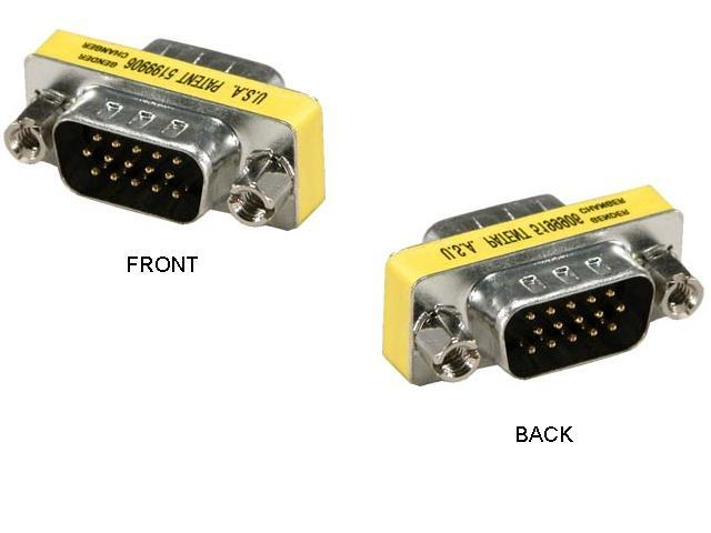 VGA (M) TO VGA (M) DB15 CONVERTER GENDER CHANGER (F574)