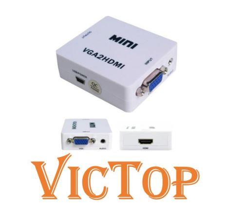 VGA To HDMI Converter 1080P VGA2HDMI Adapter (USB Cable)