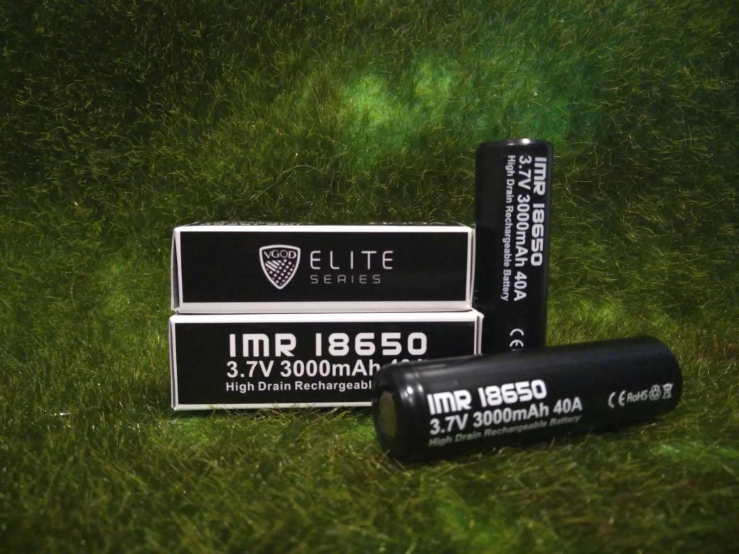 vgod elite series IMR 18650 3.7v 3000mAh 40A Vape Battery