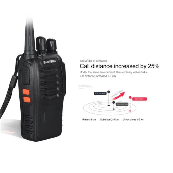 VHF/UHF FM Transceiver 400-470MHz Rechargeable Walkie FOR Baofeng BF-8