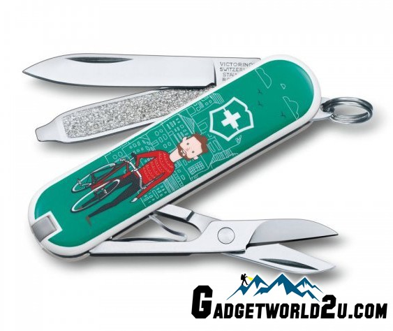 Victorinox Classic SD Ride Your Bike Multitool Pocket Knife 0.6223.L15