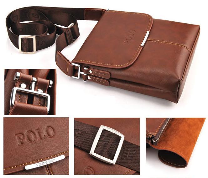 9ad9542224c9 Videng Polo Men Shoulder Bag Handbag Composite Leather Bag Laptop Bag