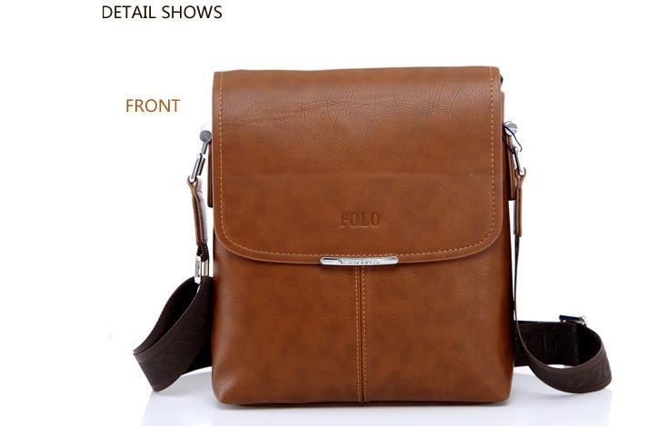Videng Polo Men Shoulder Bag Handbag Laptop Bag Composite Leather Bag e40257b3ab7b2
