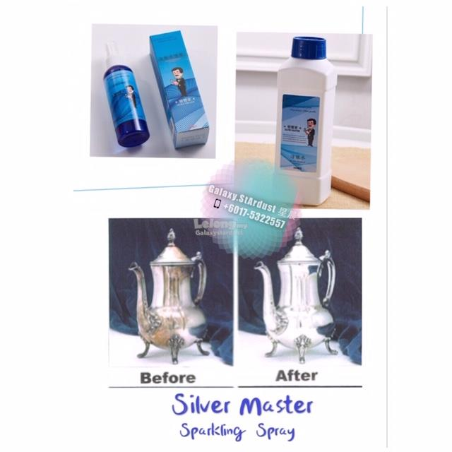 VIDEO-3 Seconds-Silver Master-Sparkle Spray On Cleanser-Stain Remove