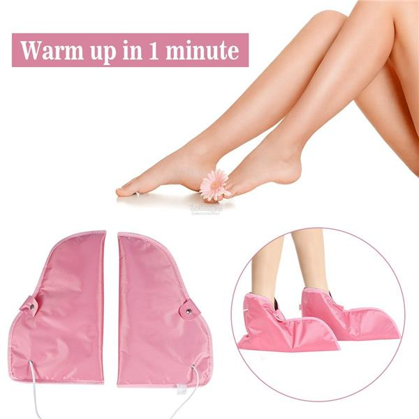 Video-Electric Warmer Heated Booties Mittens-Blood Circulation-SPA