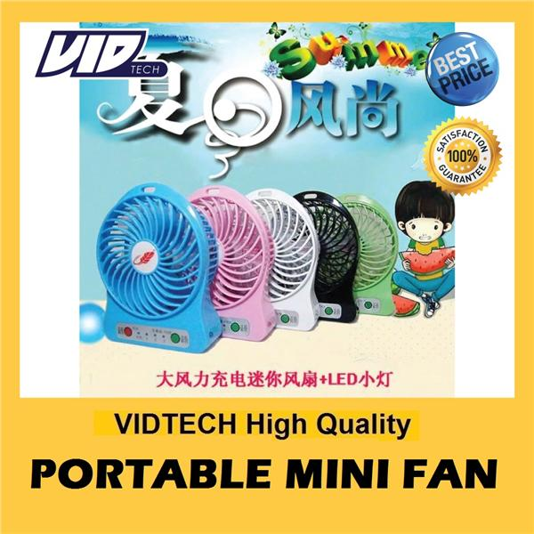 VIDTECH Portable Mini Fan GUARANTEE STRONG Wind FREE Recharge Battery