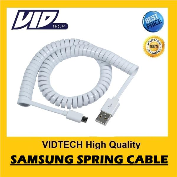 VIDTECH Spring Cable for Samsung, HTC, XiaoMi, Sony, Lenovo. PROMOTION