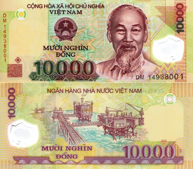 Vietnam 10000 Dong Banknote World Money Polymer Pick P-119h HO Chi Min