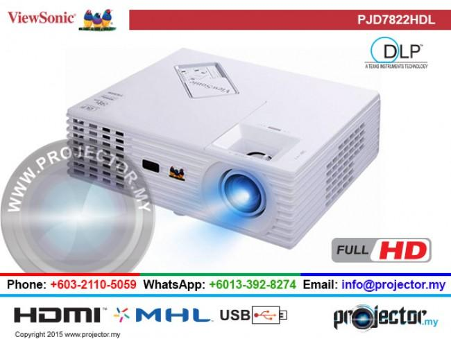 VIEWSONIC PJD7822HDL FULL HD PROJECTOR