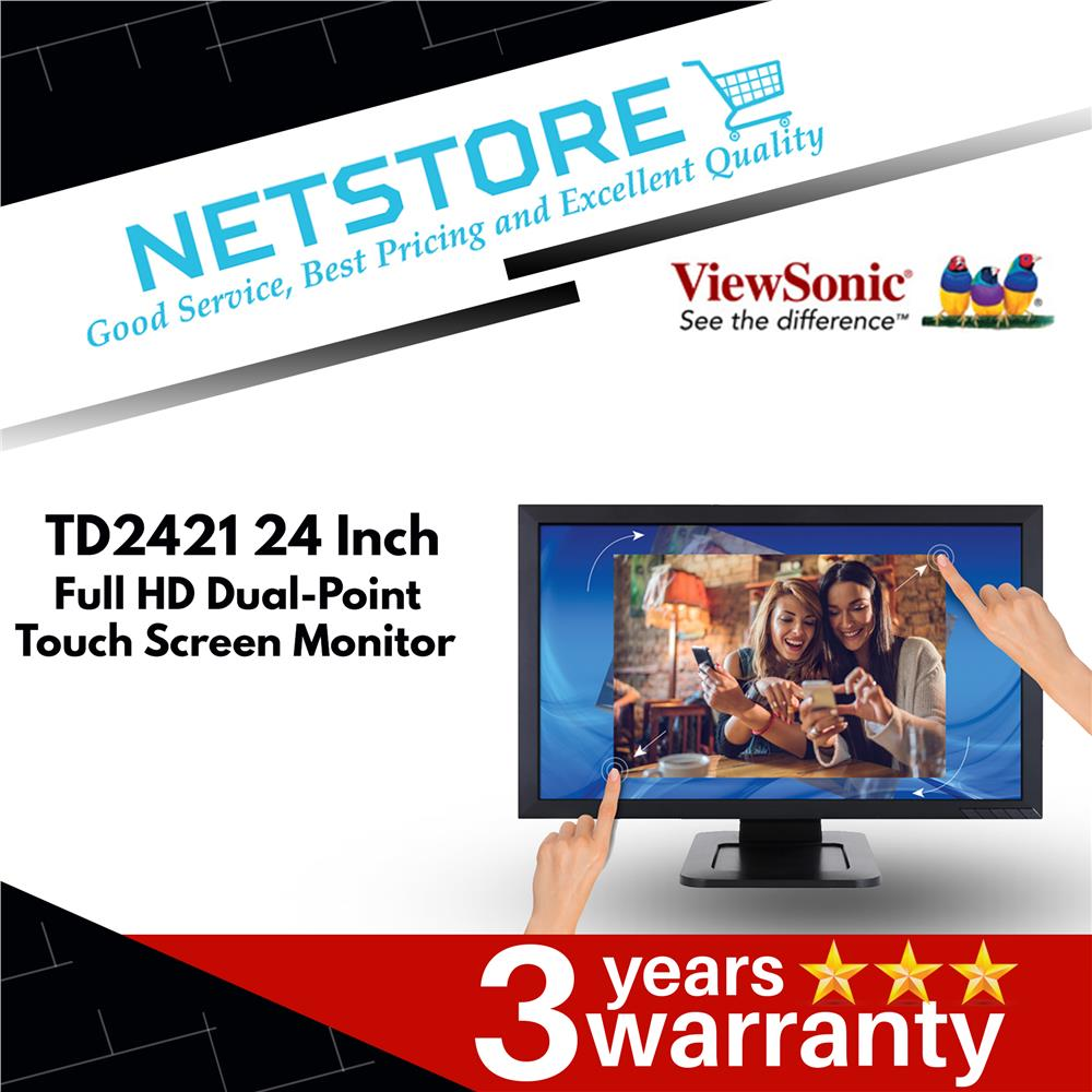 ViewSonic TD2421 24 FullHD Dual-Point Optical Touch LCD Monitor