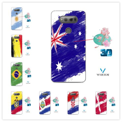 best loved 188ea 8aeb1 Vikiin LG V20 Armor Flag DIY Customize Football Case Casing Cover WorldCup