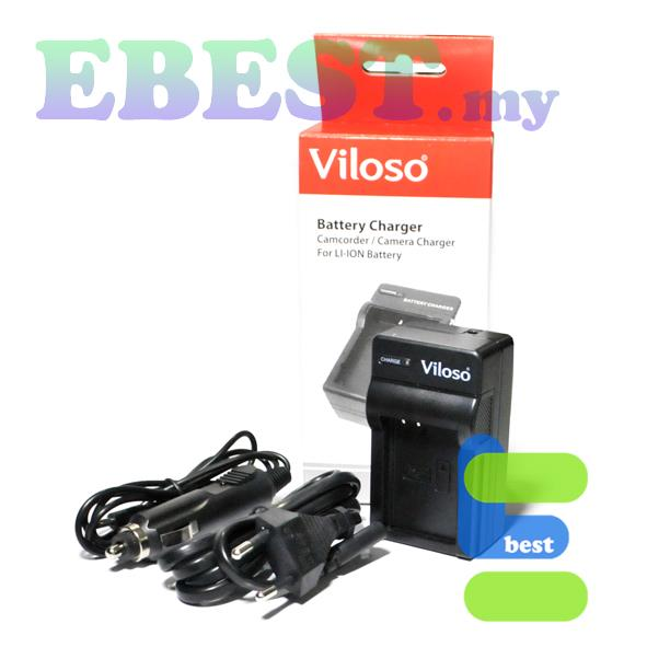 Viloso NP-FM50 Li-Ion Battery Desktop Charger for DSLR A200 550etc