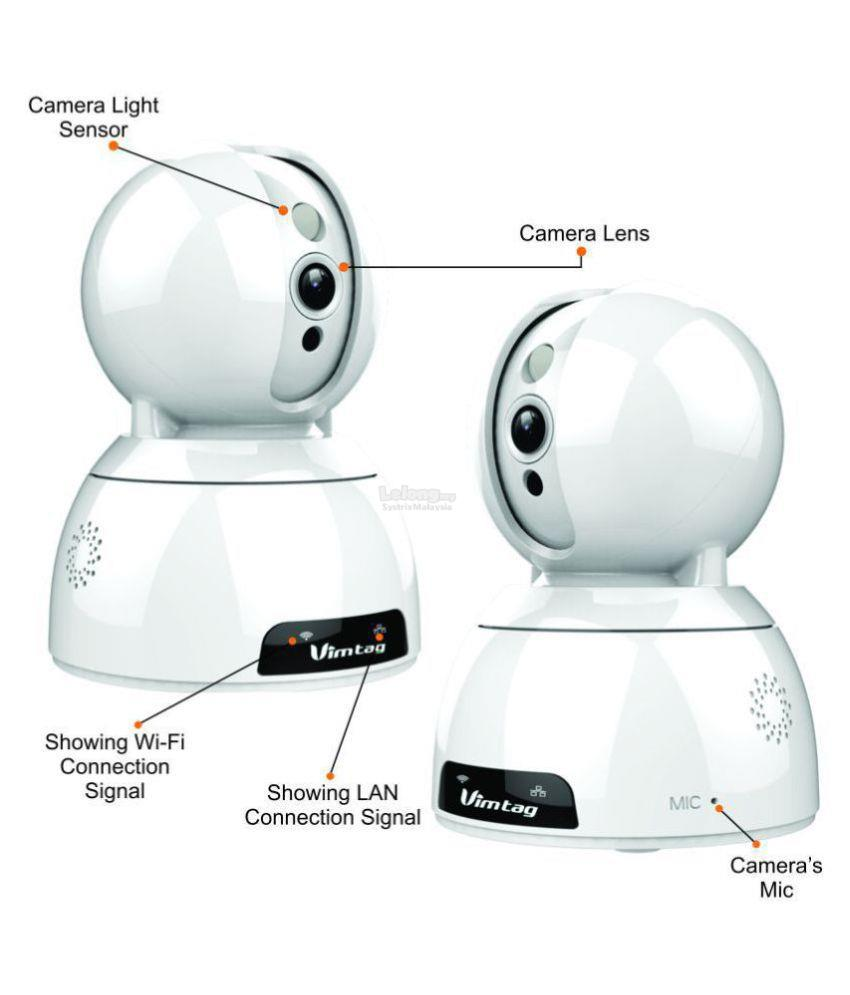Vimtag - 2MP Wifi Pan / Tilt Camera (Include 32GB Memory Card)