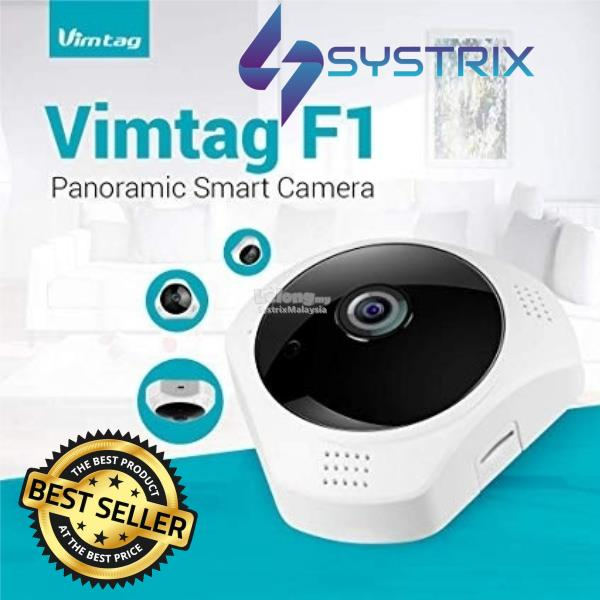Vimtag - 3MP Indoor Fish Eye Camera (Include 32GB Memory Card)