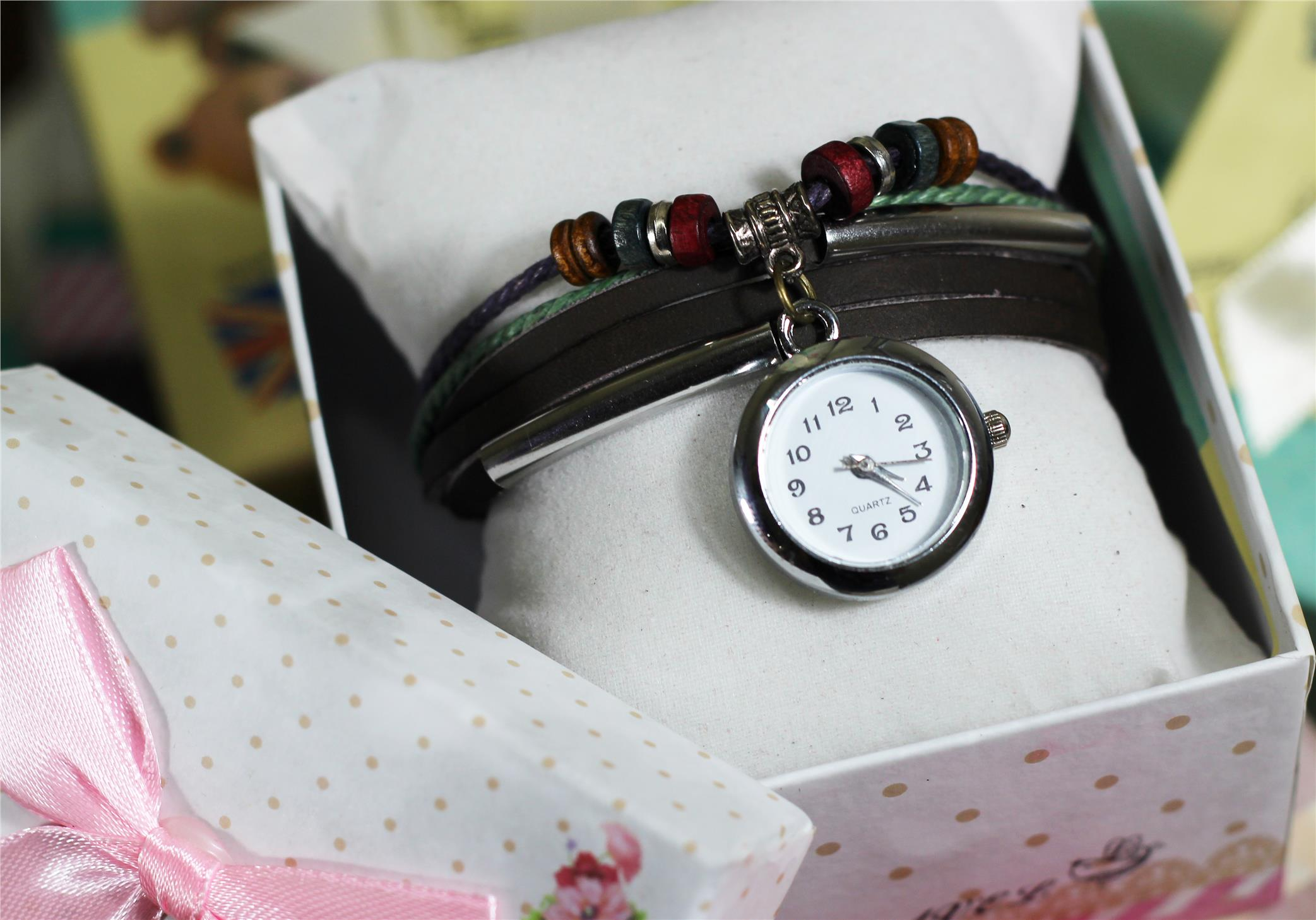 Vintage CAY Leather watch WAX