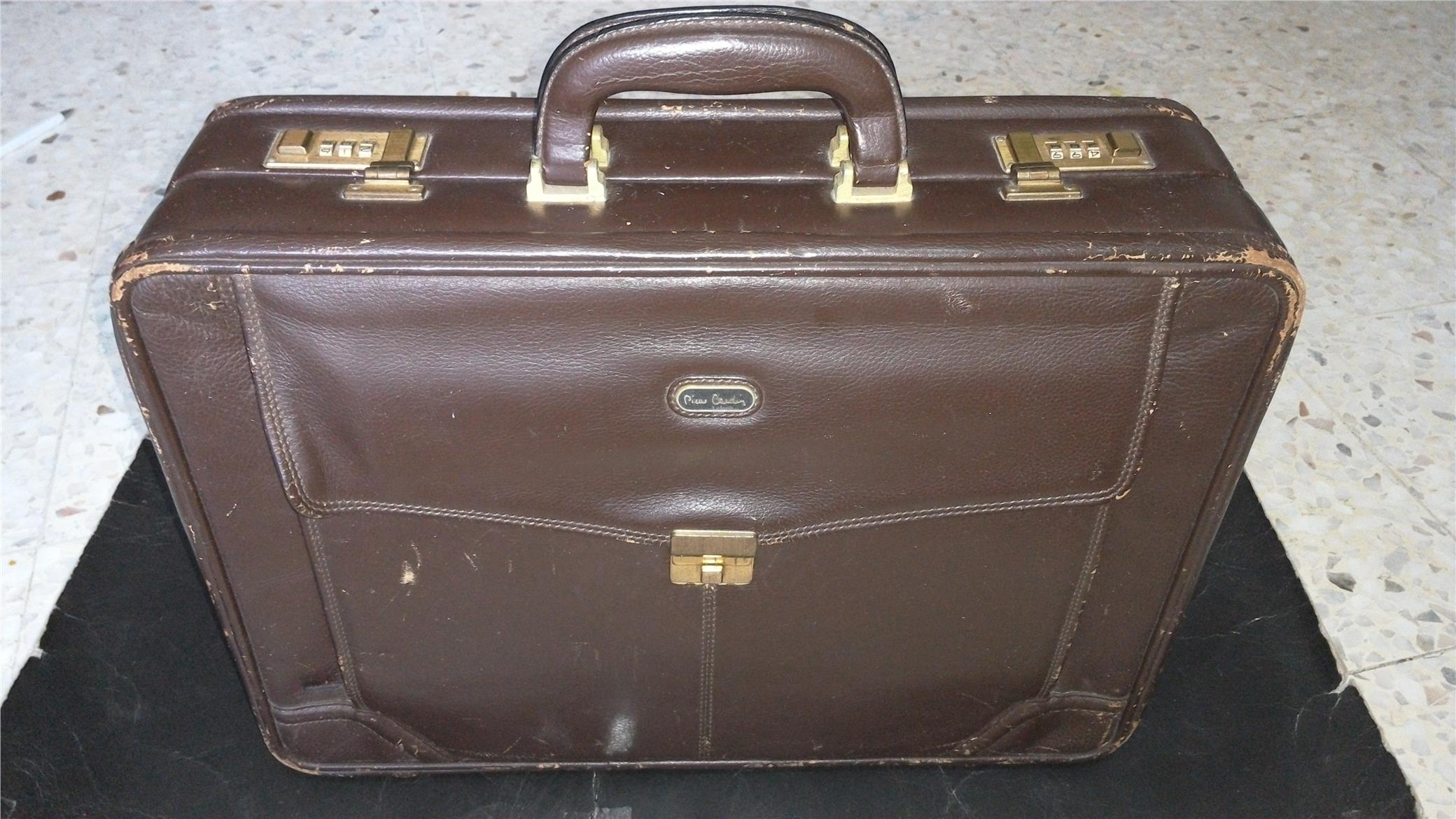 VINTAGE PIERRE CARDIN PARIS BRIEFCASE BAG LEATHER