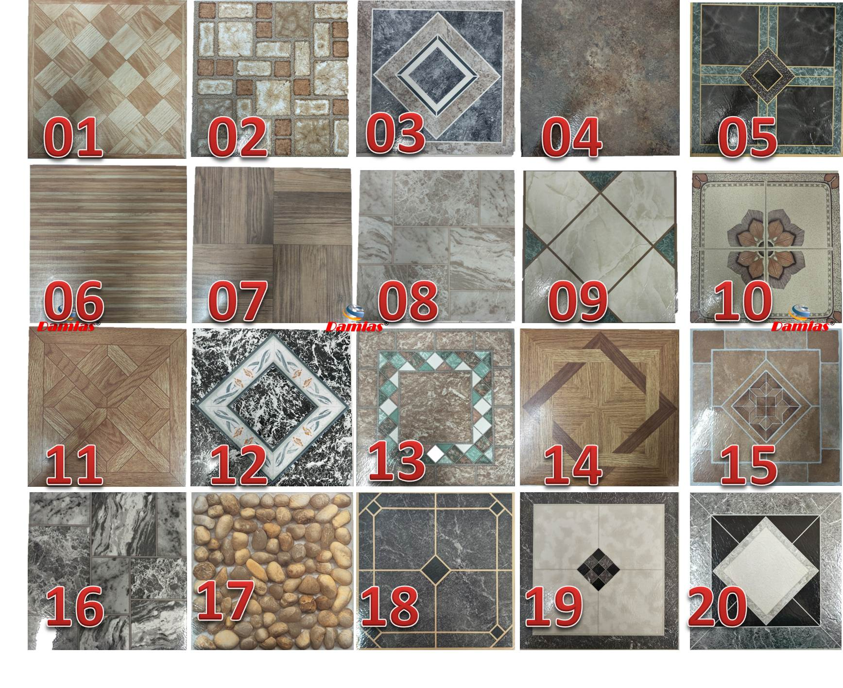 Vinyl Floor Tiles 25 Pcs X 12 Self Adhesive