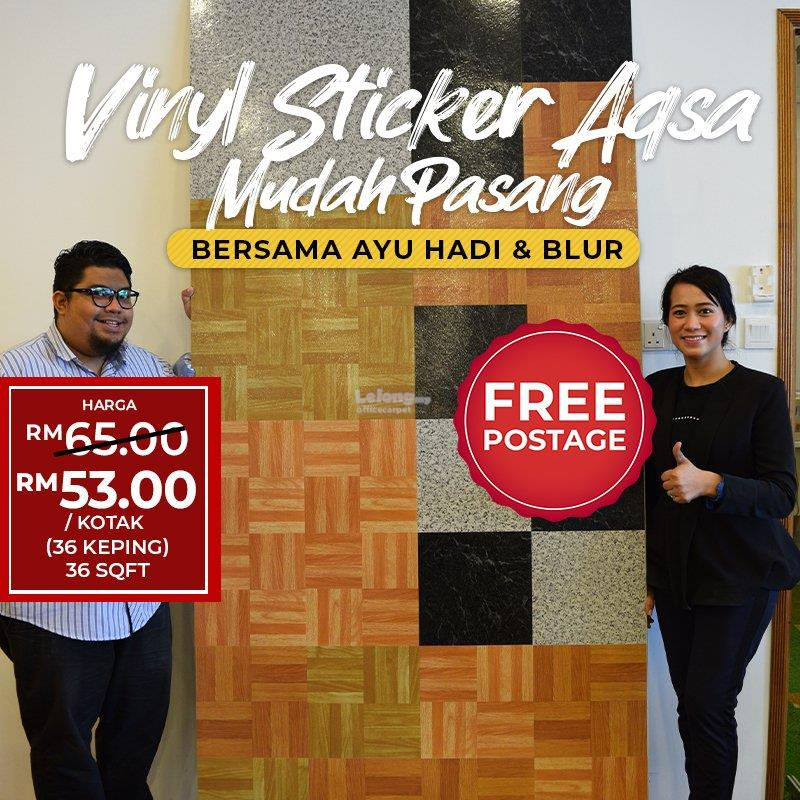 Vinyl Sticker Al Aqsa 1.5mm DIY Vinyl Tiles Self Adhesive VTA95