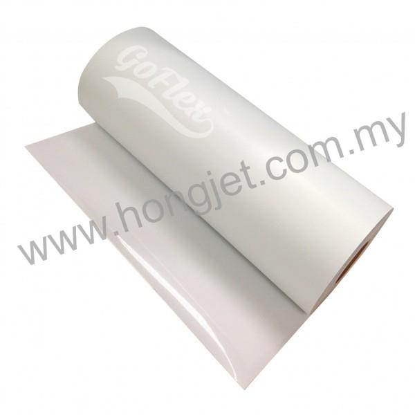 Vinyl Transfer- Soft Flock White (500mm x 1 Meter)