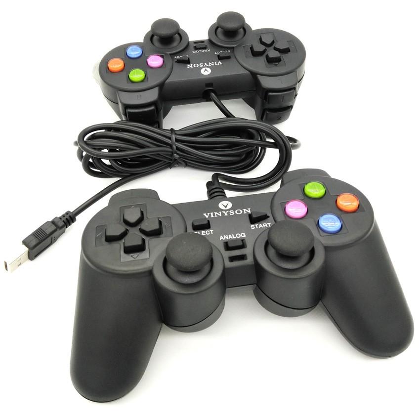 Vinyson Twin PC Joystick Double Handle Doubles Vibration Game Controller