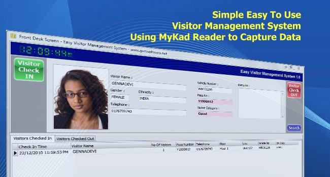Visitor Management System - VMS - Smart Card MyKad Reader