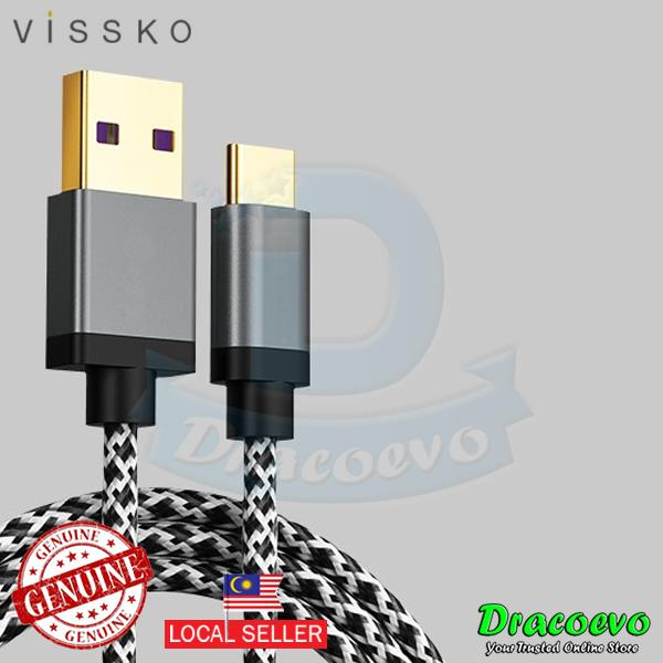 Vissko Huawei 2 Meter 5A USB Type C Cable Fast Charging Quick Charge