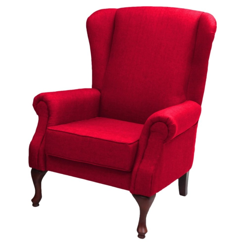 VIVA HOUZ ASDA WING CHAIR/SOFA (RED)