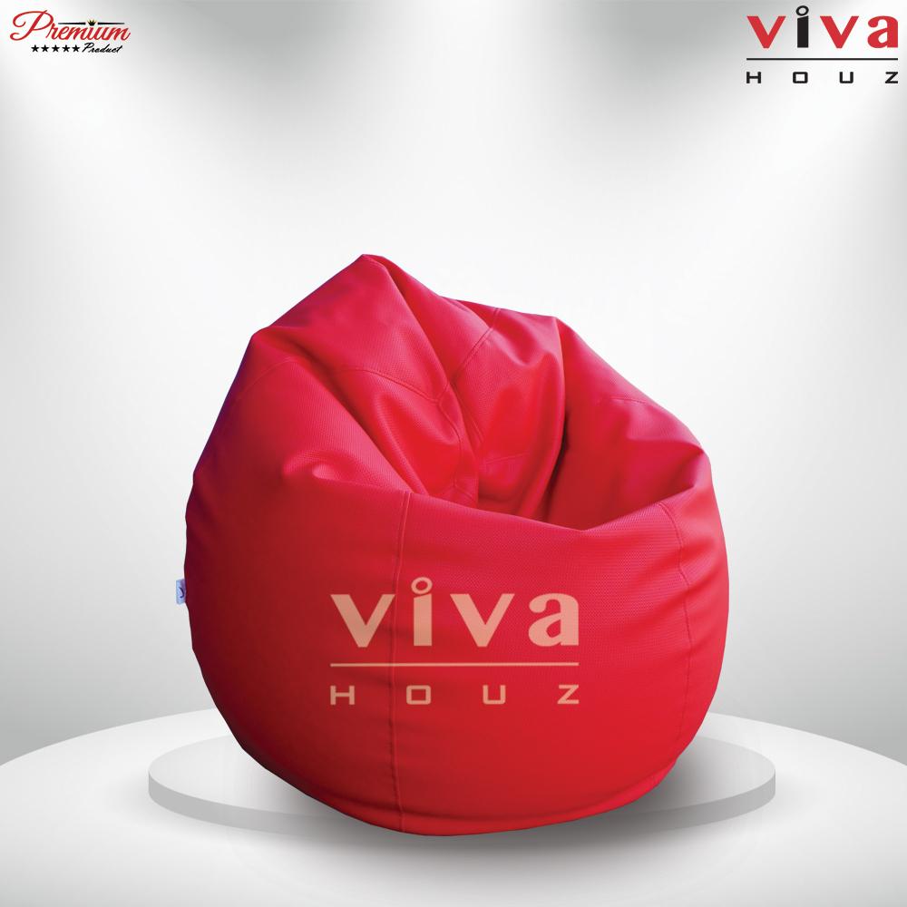 Viva Houz Padstow XXL Size Bean Bag Sofa Chair Red