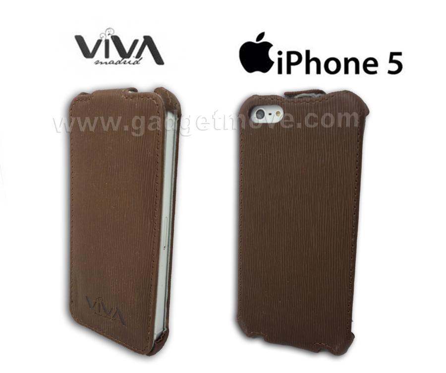 sports shoes 06413 6de57 Viva IPhone 5S 5 SE CUBRIR Collection Vertical Flip Down Leather Case