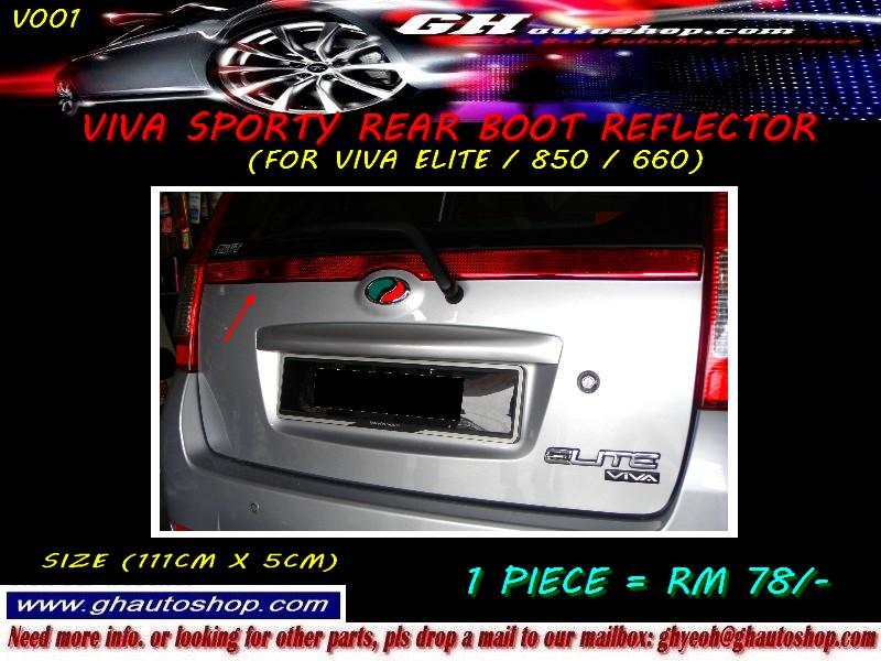 VIVA / VIVA ELITE SPORTY RED REAR BOOT REFLECTOR V001