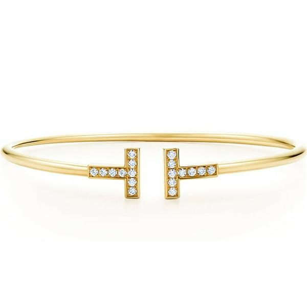 Vivere Rosse Dazzle Diva Bangle - Gold