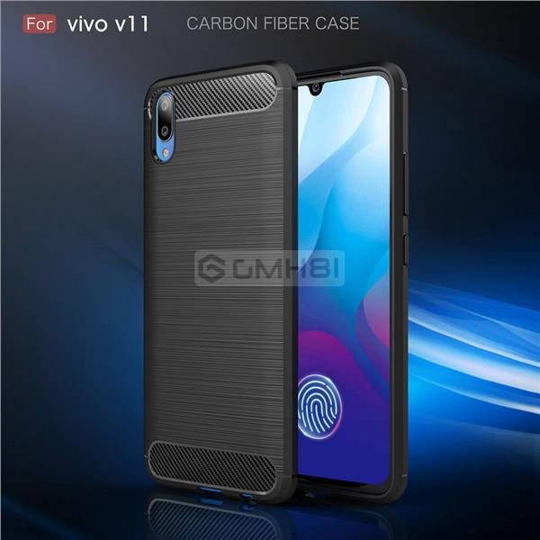 quality design 7b778 774a5 Vivo V11 Pro V11i BRUSH Rugged Tough Slim Armor TPU Bumper Cover Case
