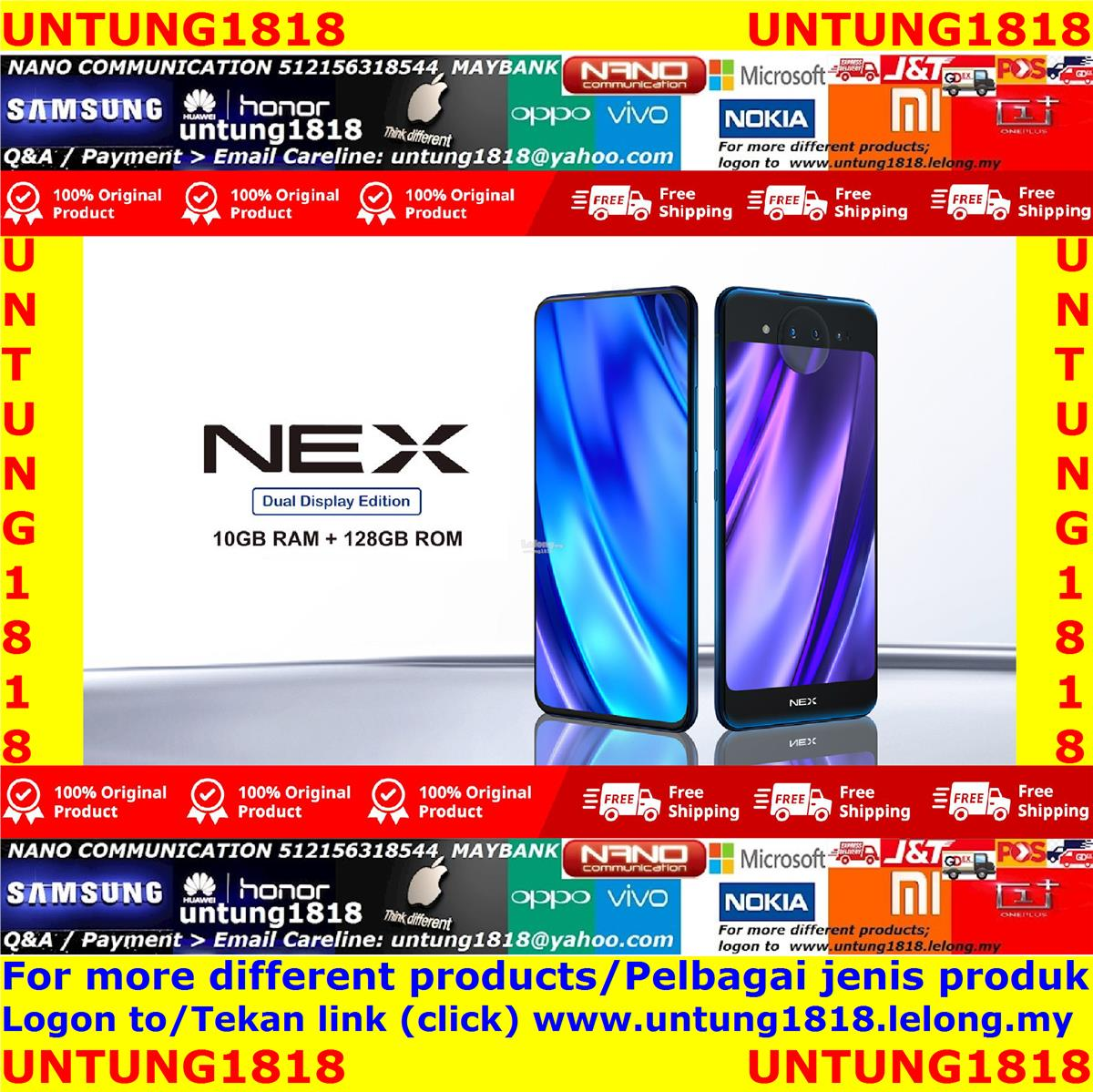 vivo V15 Pro V15 V11 V11i V9 vivo NEX Dual Display vivo S1 ORIGINAL