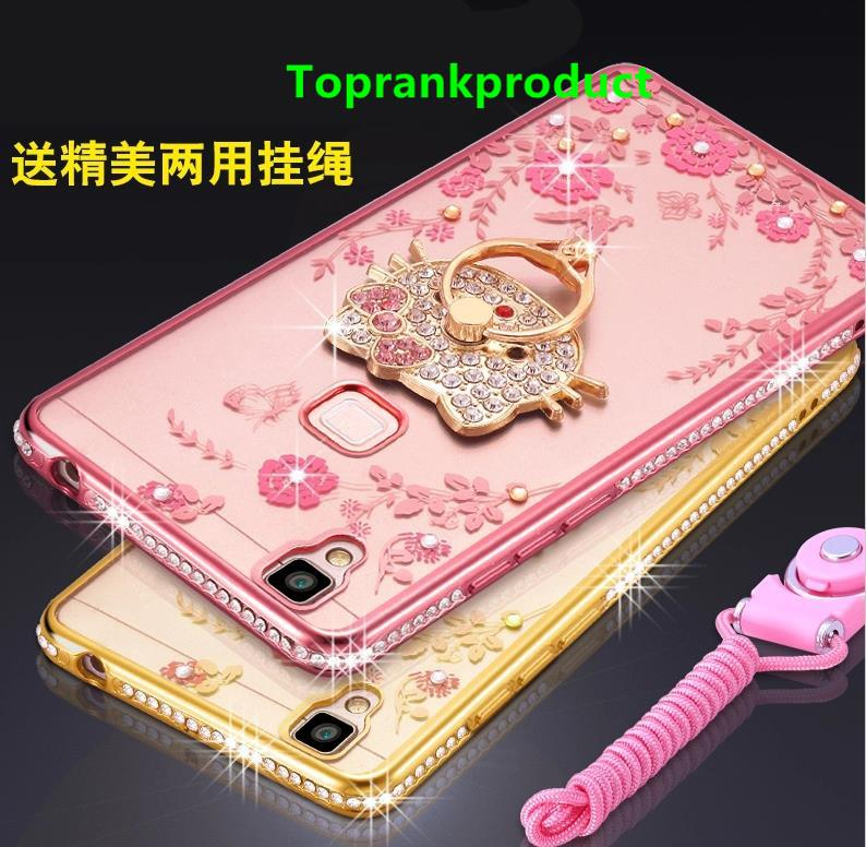 new product b3db8 85072 Vivo V3 Max Diamond Plating Silicone Case Cover Casing + Ring Holder