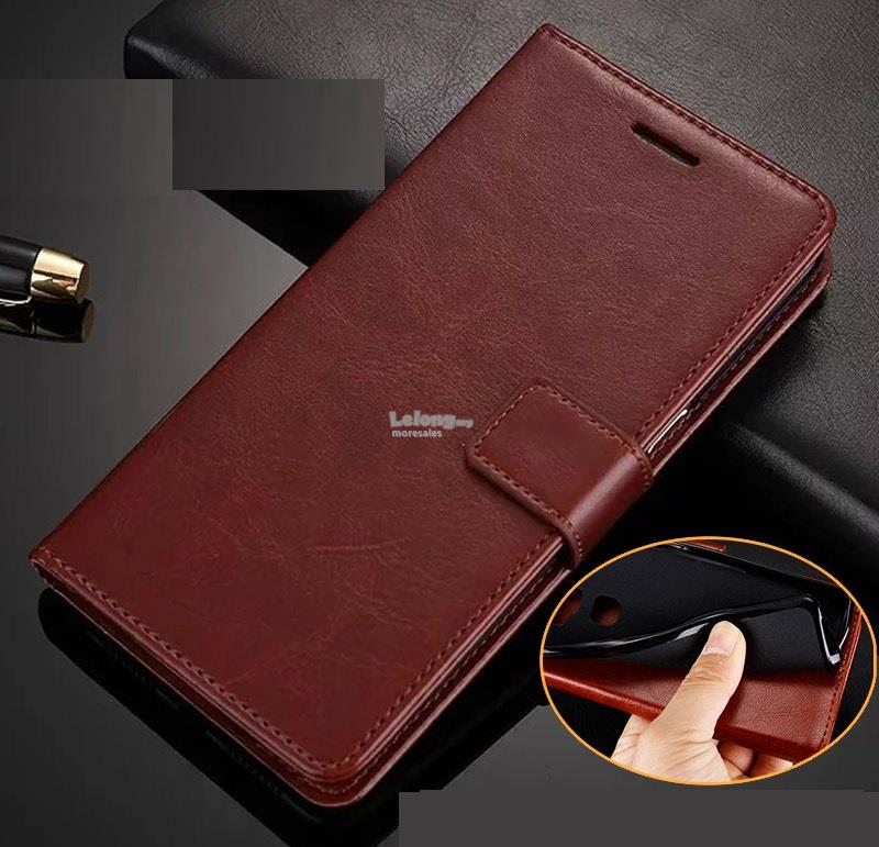 Vivo V5 lite Y66 Y67 Y69 Y71 casing flip cover pu leather case