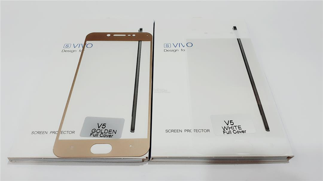 new concept d78ba 2e55b VIVO V5 TEMPERED GLASS SCREEN PROTECTOR FULL COVER