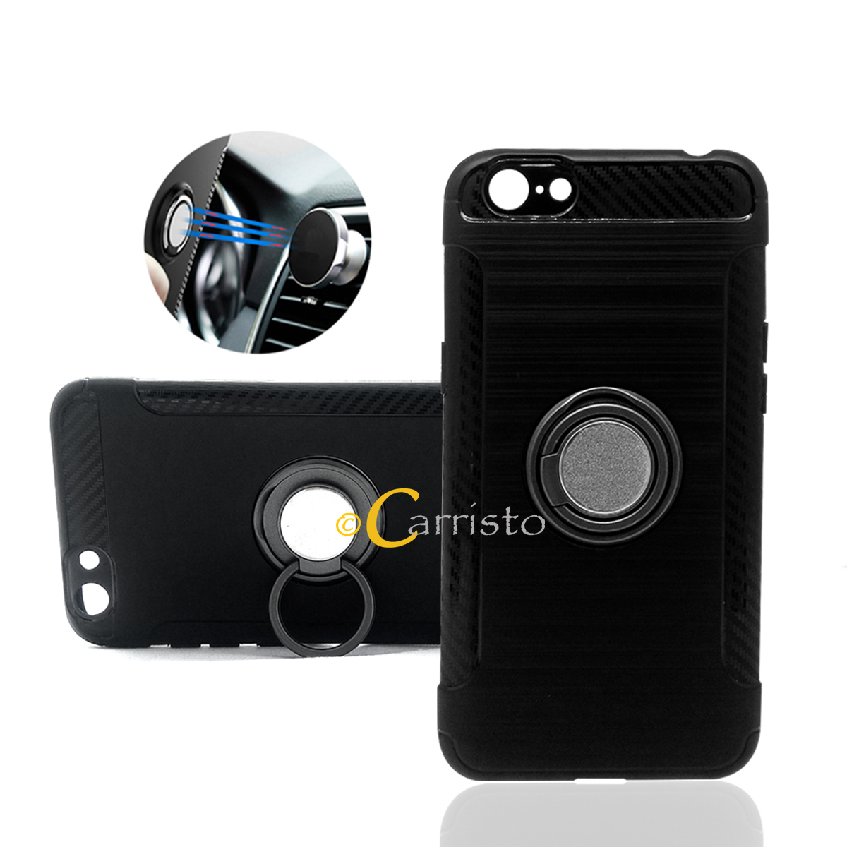 hot sale online 2dee7 9ebe7 Vivo V5 V5s V5 Plus Y65 Y55 Y69 Y53 Magnetic Car Holder Case Cover Cas