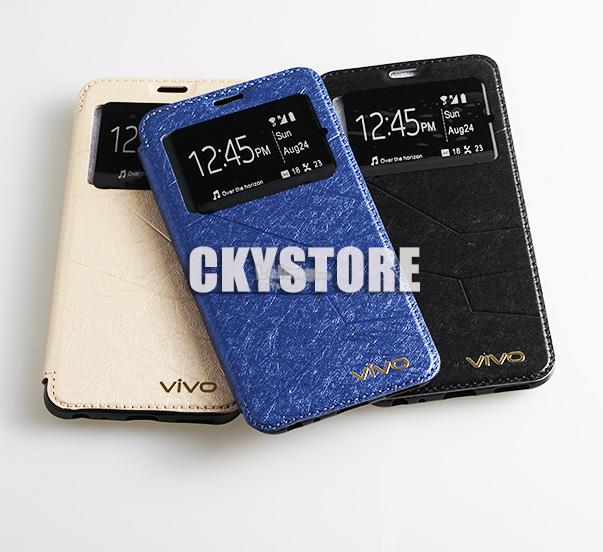 VIVO V9 Sview Sparkle Standable Flip Case Pocket